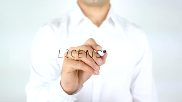 License, Man Writing on Glass video