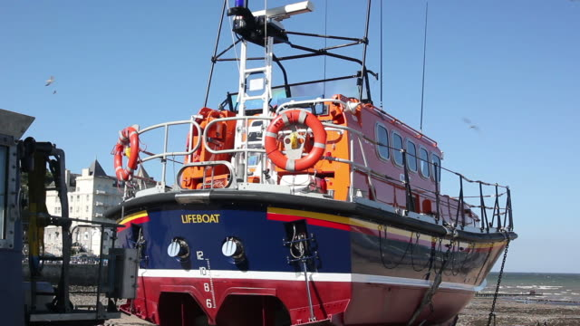 Lifeboat at the seaside video