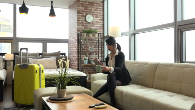 Lifestyle With Asian Girl Woman Using Ipad Digital Tablet video