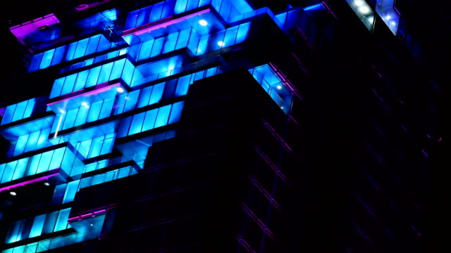 Light and sound show on building video
