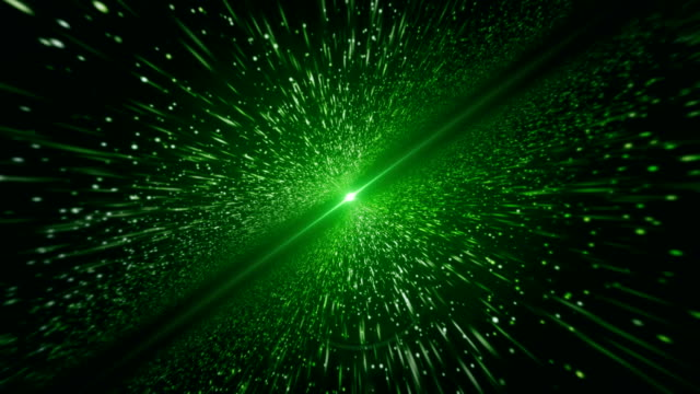 Light Beam, Green Particle (Loopable)