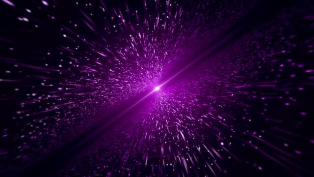 ljus strålar, lila partikel (loopable) - zoom in bildbanksvideor och videomaterial från bakom kulisserna