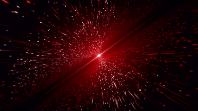 light beam, red particle background - space exploration stock videos & royalty-free footage