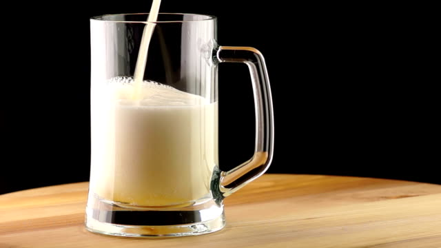 Light Beer is Poured into a Mug video