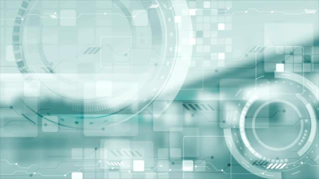 ライトブルー未来的技術ビデオアニメーション - 機械部品点の映像素材/bロール