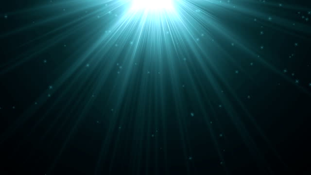 4k light blue warm heaven lights with twinkle or star falling from above soft optical lens flares shiny animation art background animation. motion graphic natural lighting lamp  rays shiny effect. - wiązka światła filmów i materiałów b-roll