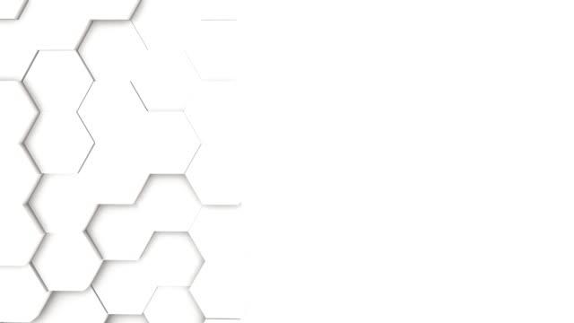 luce luminosa pulita modello di griglia esagonale minima - esagono video stock e b–roll
