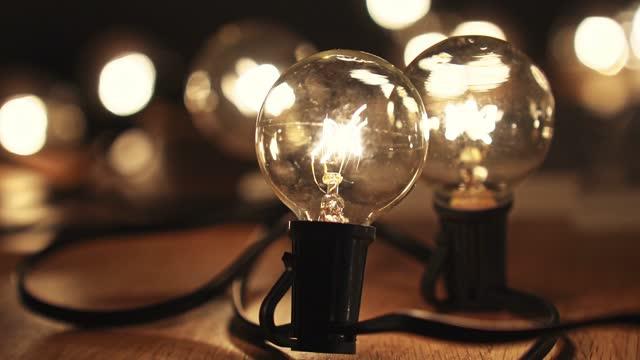 light bulb close up