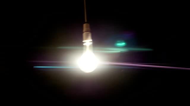 lampadina sfarfallio - fare video stock e b–roll