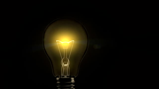 Light Bulb Turning On video