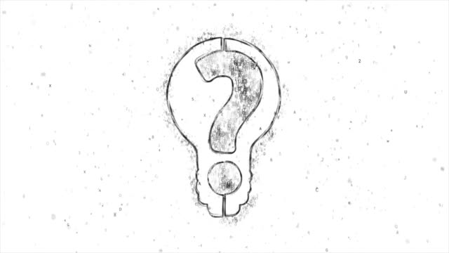 Light Bulb with Question