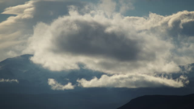 Light, clouds, mountains and snow in the Andes
