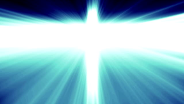 vídeos de stock, filmes e b-roll de luz cruz de cristo, feixes de raio azul base - batismo