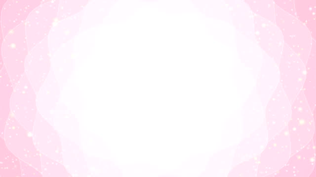 Light cute pink abstract flower background - seamless loop. Motion banner backdrop with shining bokeh sparkles. Smooth circular animation looped with bokeh particle. Sunlight with ray and hypnotic wave princess stock videos & royalty-free footage