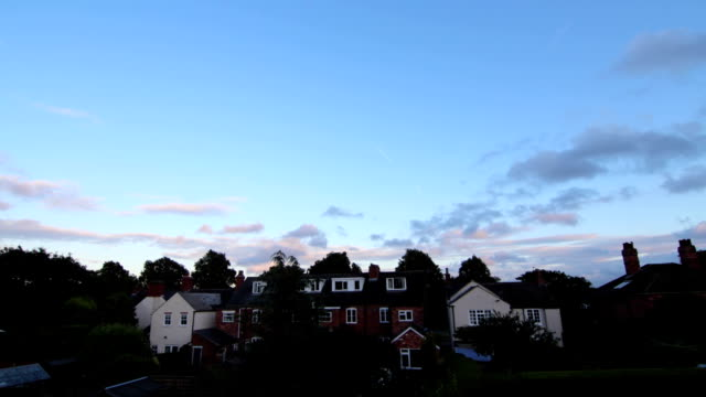 Light Fades through Clouds in Coloured Sky in Epic Wide Angle Timelapse video