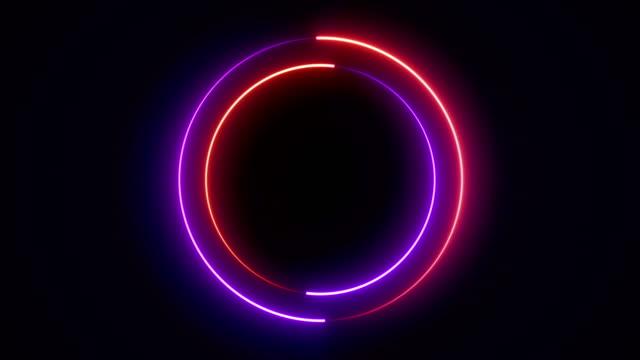 Light glowing neon shape animation