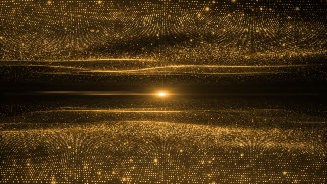 light gold wave beautiful particle background business corporate digital wave shiny golden surface