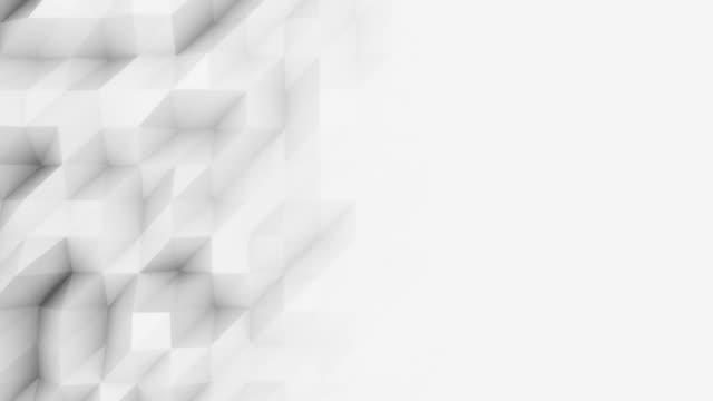 ljus grå 3d månghörniga rörelse bakgrunden för moderna affärsrapporter och presetations. fullhd sömlös loop animation, prores - på gränsen bildbanksvideor och videomaterial från bakom kulisserna