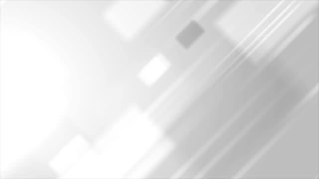 밝은 회색 추상 기술 비디오 애니메이션 - 배경 초점 스톡 비디오 및 b-롤 화면