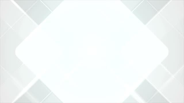라이트 그레이 블루 기하학적 사각형 비디오 애니메이션 - 배경 초점 스톡 비디오 및 b-롤 화면