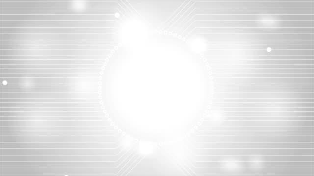 vídeos de stock, filmes e b-roll de luz cinza tecnologia placa de circuito de animação de vídeo - padrão repetido