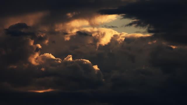 light  Hole in dark cloudscape video