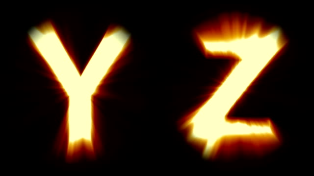 Royalty free letter y hd video 4k stock footage b roll istock light letters y and z warm orange light strong shimmering and intense flickering animation thecheapjerseys Images