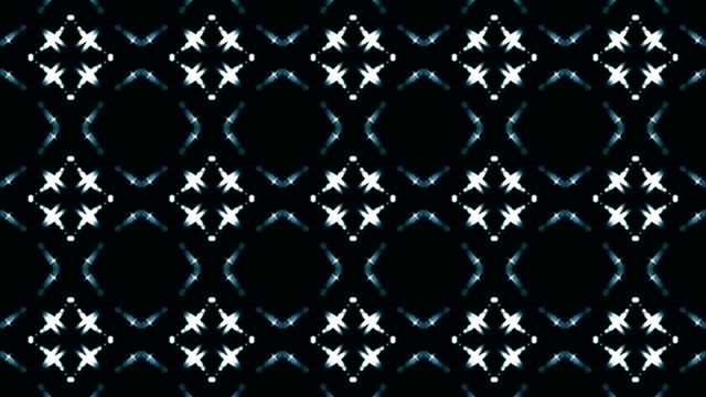 4K light looping kaleidoscope. Abstract motion graphics background. video