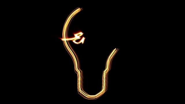 light neon bulb with wolfram video
