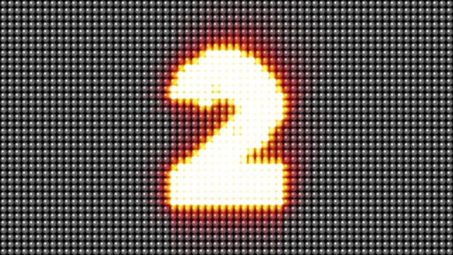 LED light number countdown animation background