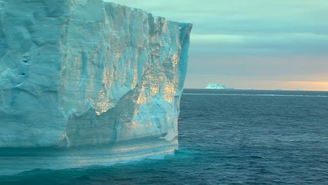 light on an iceberg