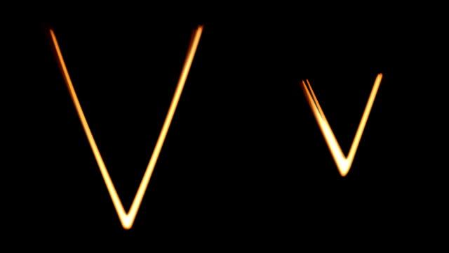 Lichtmalerei Bau Set/Kleinbuchstaben'U'auf
