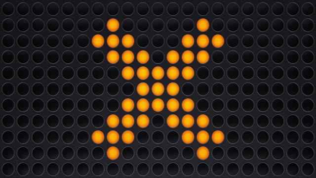 ljuspanel i form av ett tecken x - korsform bildbanksvideor och videomaterial från bakom kulisserna