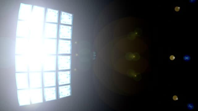 ライトパネルループ - サッカークラブ点の映像素材/bロール