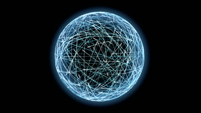 4 k 光の球の形成に周回する粒子 - 連続文様点の映像素材/bロール