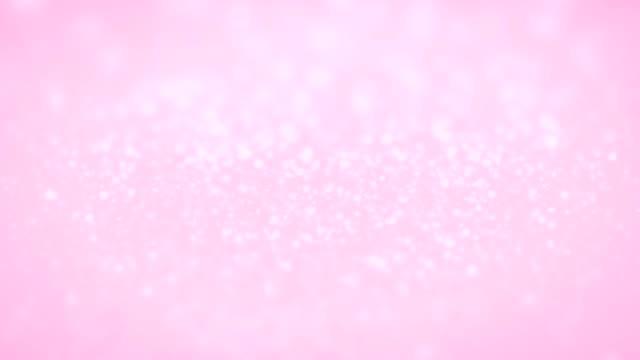 ライトピンクローズ結婚式キラキラキラキラバックグラウンドループ - ピンク色点の映像素材/bロール