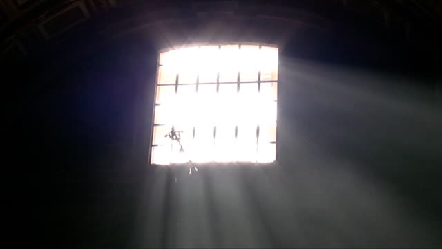 Light rays inside a cathedral video