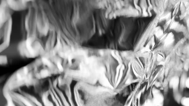 Light Reflections on Metallic Texture Light Reflections from a Metallic Surface silver metal stock videos & royalty-free footage