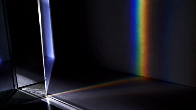 Light spectrum visible though a prism video
