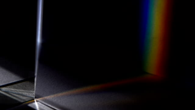 Light spectrum visible though a prism Light spectrum visible though a prism. prism stock videos & royalty-free footage