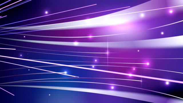 Light streaks on violet abstract background video