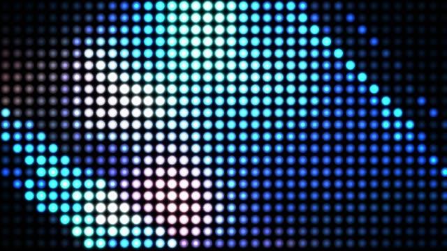 答えた、電球、色抽象化、ループ ビデオ