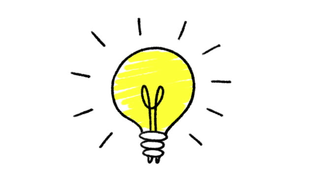 Lightbulb doodle animation, isolated on a white background Lightbulb doodle animation, isolated on a white background light bulb stock videos & royalty-free footage