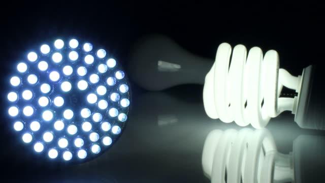 lightbulbs biegen sie - led leuchtmittel stock-videos und b-roll-filmmaterial