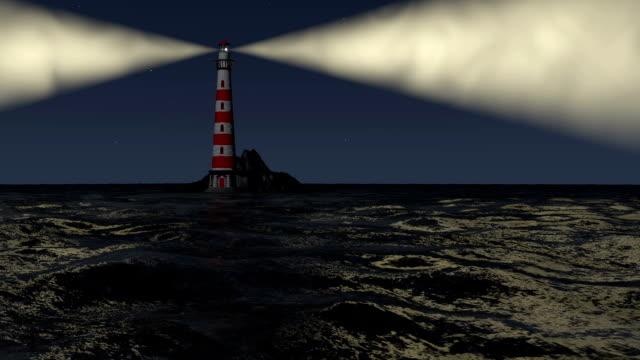 stockvideo's en b-roll-footage met lighthouse at sea - waarschuwingssignaal