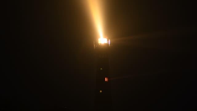 stockvideo's en b-roll-footage met vuurtoren op het eiland van schiermonnikoog - waarschuwingssignaal