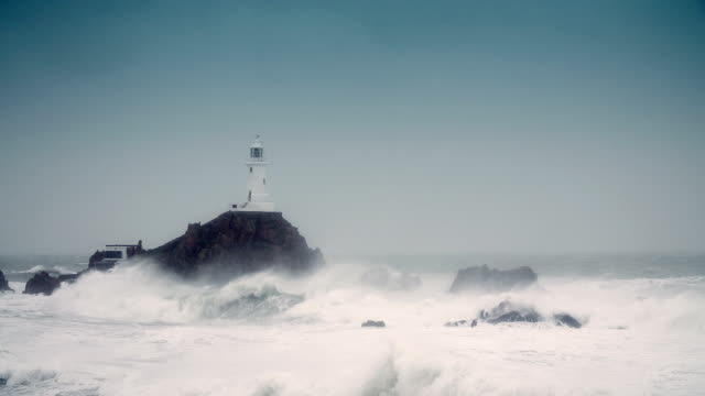 Lighthouse in a storm video