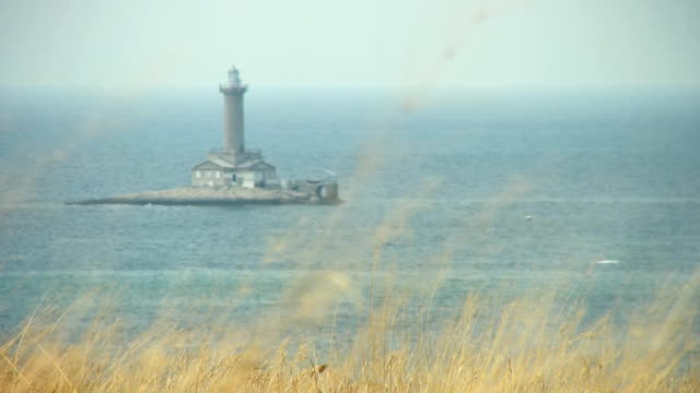 HD: Lighthouse In Mediterranean Sea video