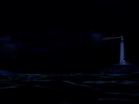 leuchtturm in stürmischer see-ntsc - leuchtturm stock-videos und b-roll-filmmaterial