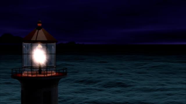 маяк в шторм море - lightning стоковые видео и кадры b-roll